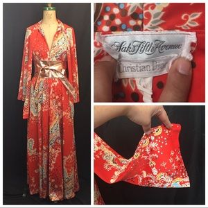 Vintage Christian Dior Psychedelic Robe